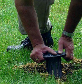 termite bait trap installation image