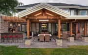 classy outdoor living space designing ideas with tidy and clean outdoor kitchen decorating ideas image