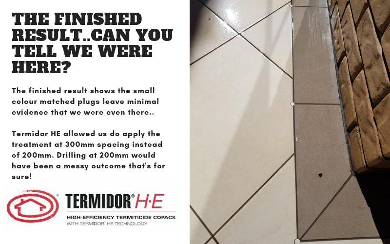 termite barrier using termidor he image